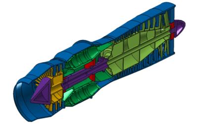 MSC Apex Jet Engine Case Study Tutorials Added to Evotech CAE Site