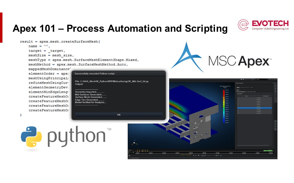 MSC Apex 101 for Aerospace Applications – Introduction to Process Automation and Scripting