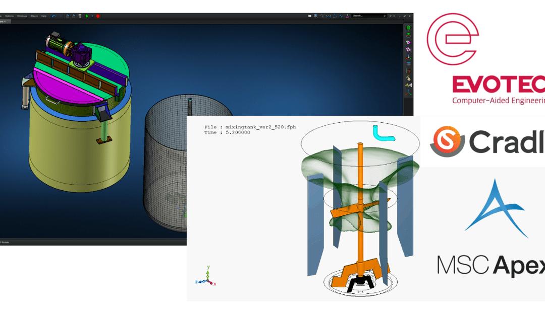 Webinar 'Efficient Design and Simulation Strategies for Fluid Mixing Simulation using Cradle scFLOW and MSC Apex'